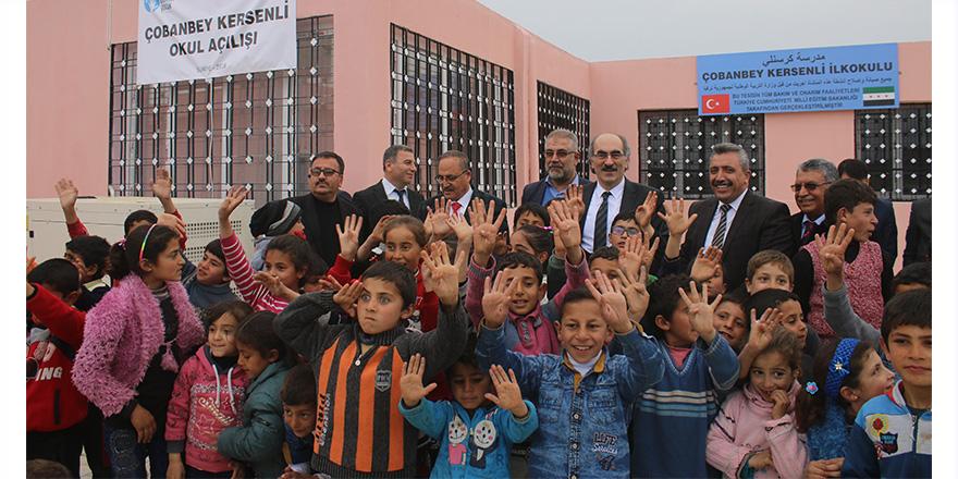 Çobanbey Kersenli İlkokulu açıldı