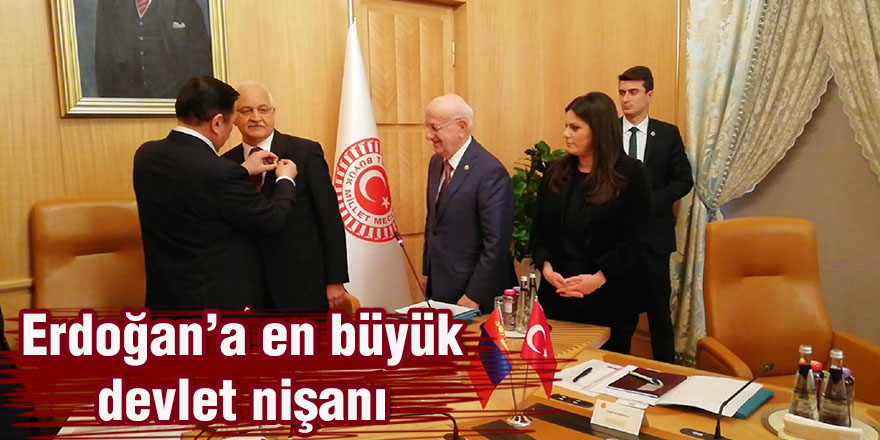 Erdoğan'a en büyük devlet nişanı