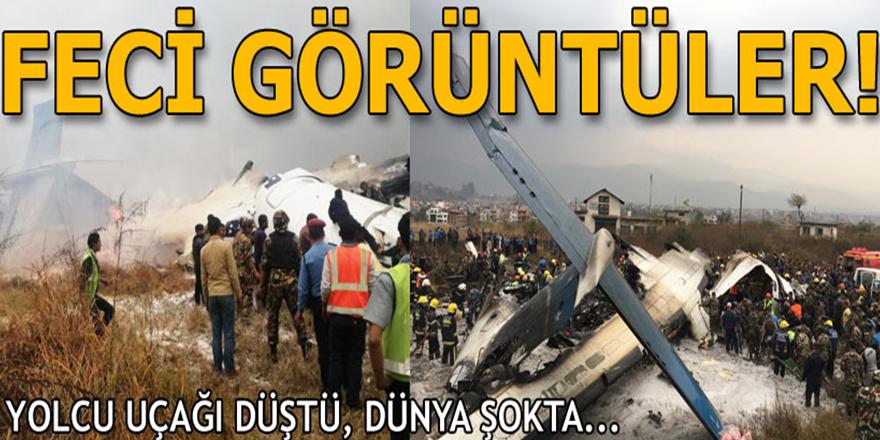 Nepal'de yolcu uçağı kaza yaptı!