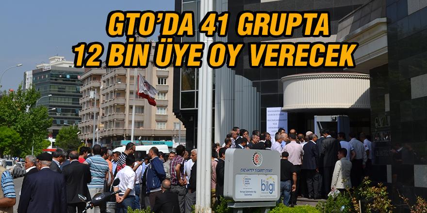 GTO'da 41 grupta 12 bin üye oy verecek