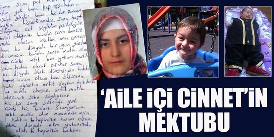 Çocuklarını öldüren kadının kahreden mektubu