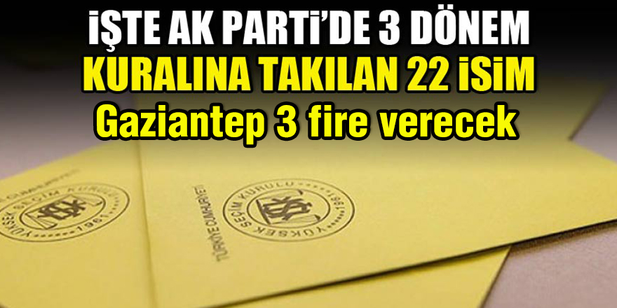 3 dönem kuralında Gaziantep 3 fire verecek