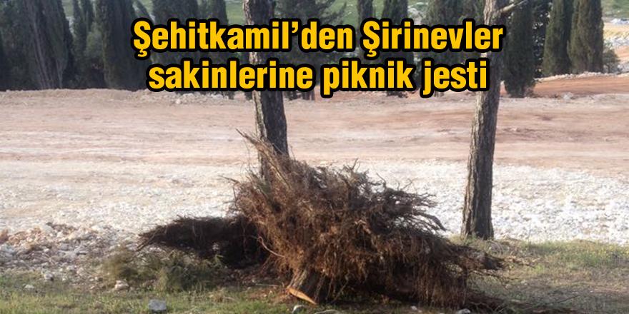 Şehitkamil'den Şirinevler sakinlerine piknik jesti