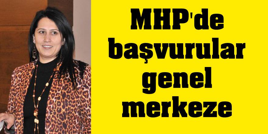 MHP'de başvurular genel merkeze