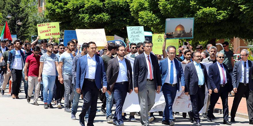 Kudüs yürüyüşünde buluştular