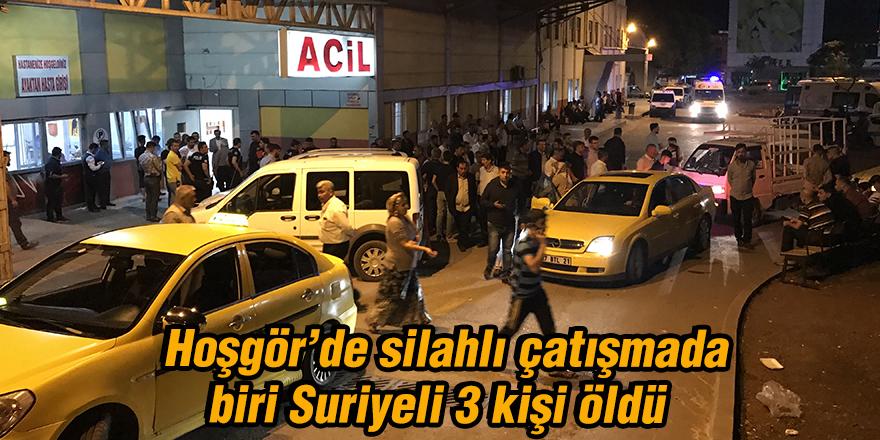 Hoşgör'de silahlı çatışmada  biri Suriyeli 3 kişi öldü