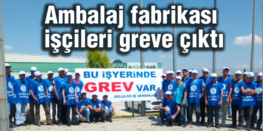 Ambalaj fabrikası işçileri greve çıktı