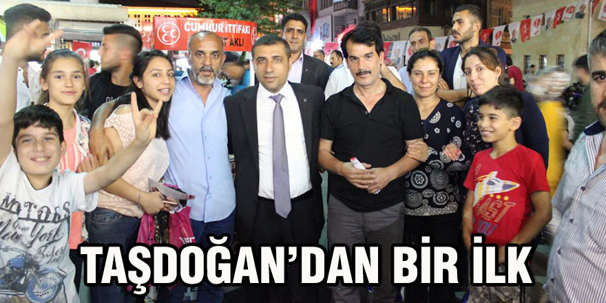 Taşdoğan'dan bir ilk