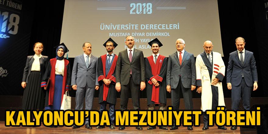 Kalyoncu'da mezuniyet töreni