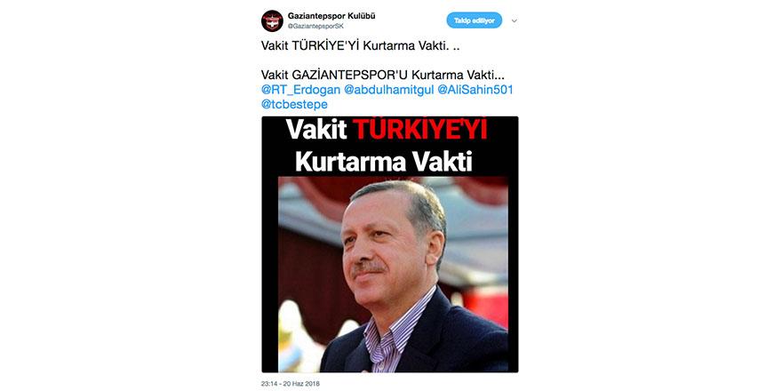 Gaziantepspor'u siyasete bulaştırma tepkisi