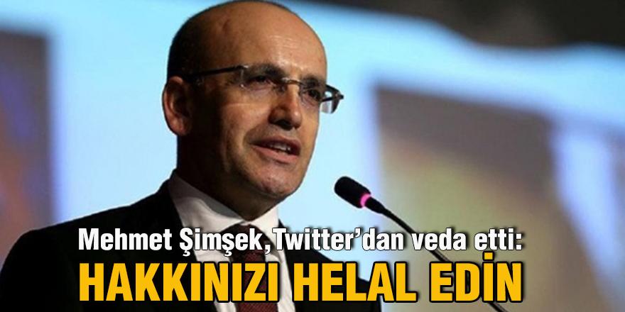 Mehmet Şimşek, Twitter'dan veda etti