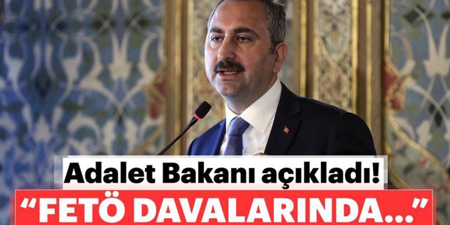 """""""FETÖ davalarında 2 bin 382 sanığa ceza verilmiştir"""