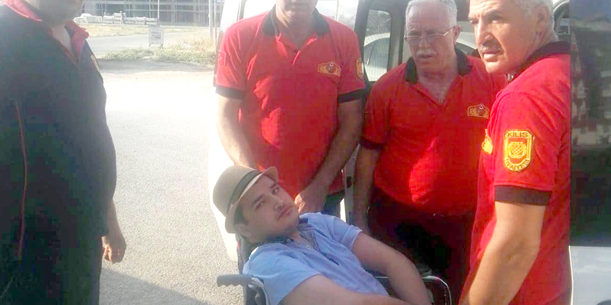 Engelli genci itfaiye ekipleri sınava yetiştirdi