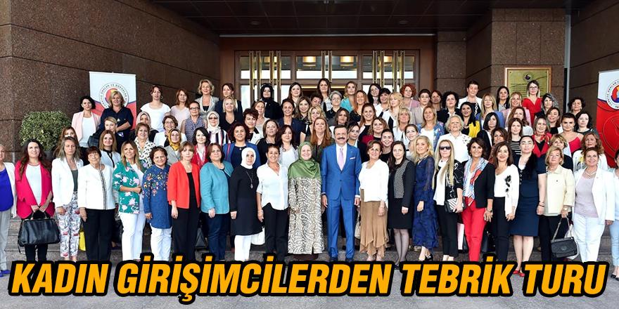 Kadın girişimcilerden tebrik turu