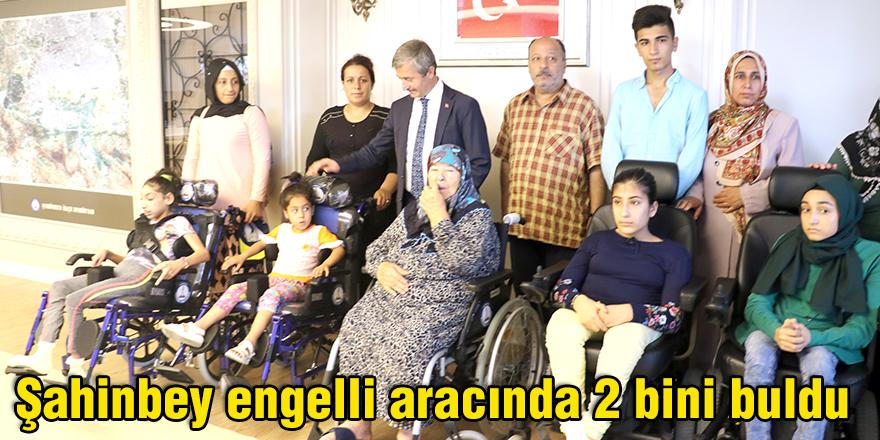 Şahinbey engelli aracında 2 bini buldu