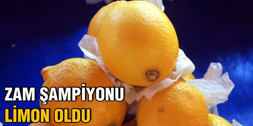 Zam şampiyonu limon oldu