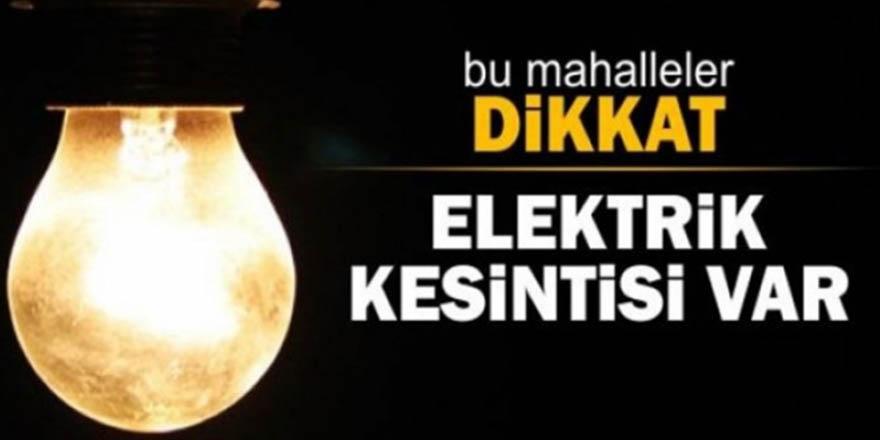 Gaziantep'te 34 mahallede elektrik kesintisi!