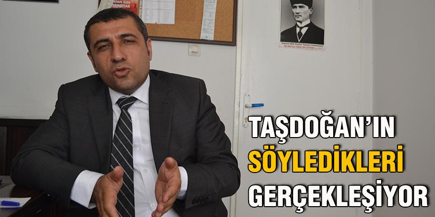 Taşdoğan'ın söyledikleri gerçekleşiyor
