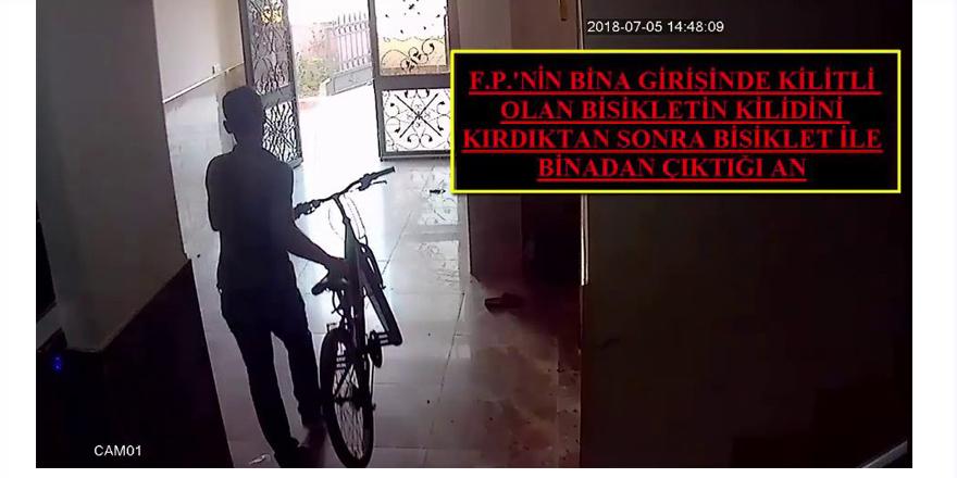 Bisiklet hırsızı böyle yakalandı