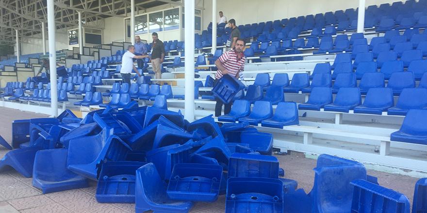 Gaski'nin koltukları kırıldı
