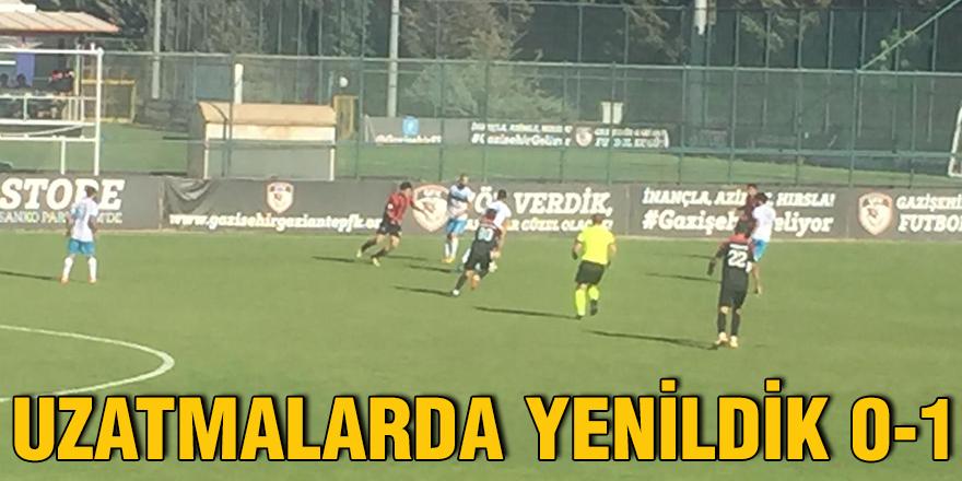 GAZİANTEPSPOR UZATMA DA VURULDU 1-0