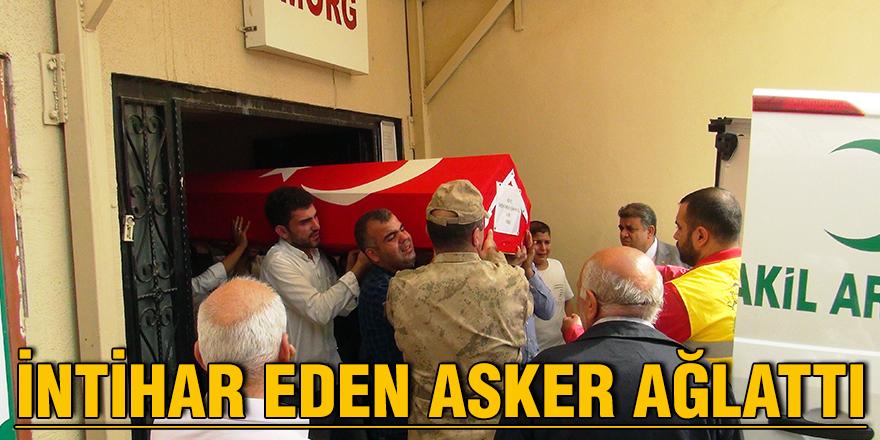 İntihar eden asker ağlattı