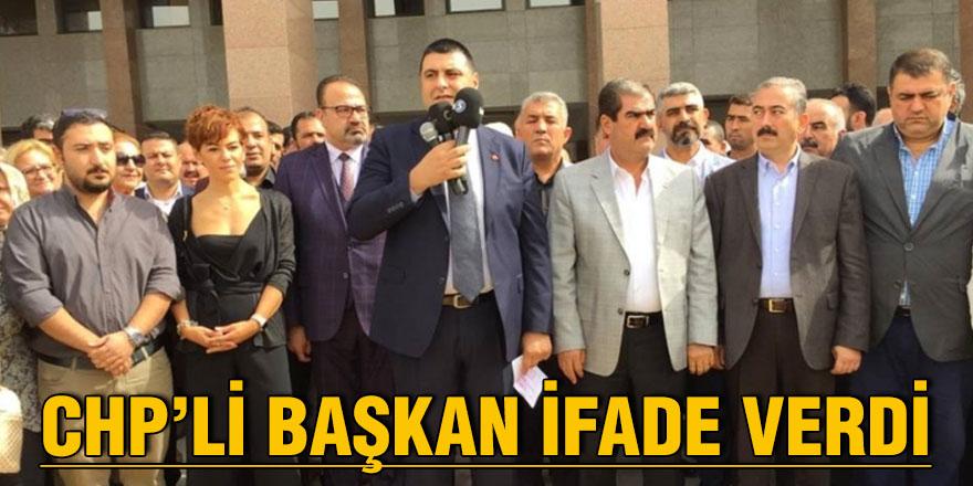 CHP'li başkan ifade verdi
