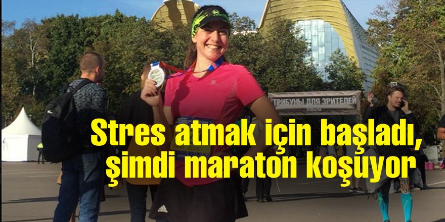 Stres atmak için başladı,  şimdi maraton koşuyor