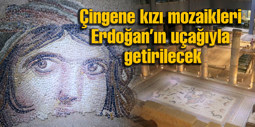 Çingene kızı mozaikleri Erdoğan'ın uçağıyla getirilecek