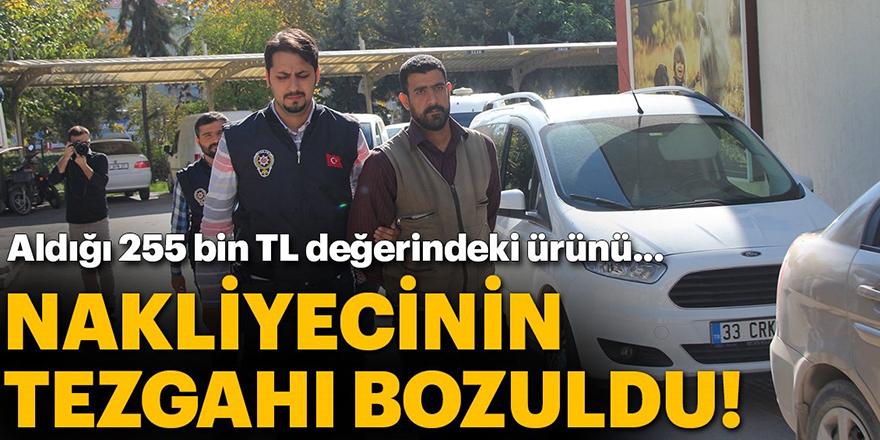 Gaziantep'e gönderdiği tonlarca salça Mersin'den çıktı