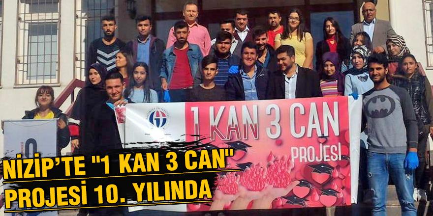 """Nizip'te """"1 kan 3 can"""" projesi 10. yılında"""