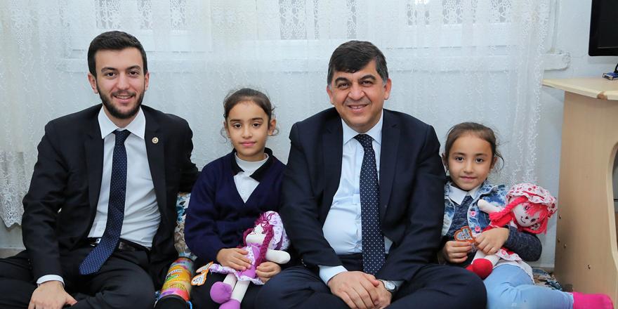 Fadıloğlu ile Yüksel, aile ziyaretleri gerçekleştirdi