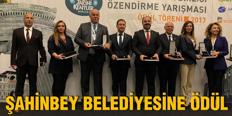 Şahinbey Belediyesine ödül