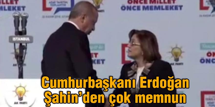 Cumhurbaşkanı Erdoğan Şahin'den çok memnun