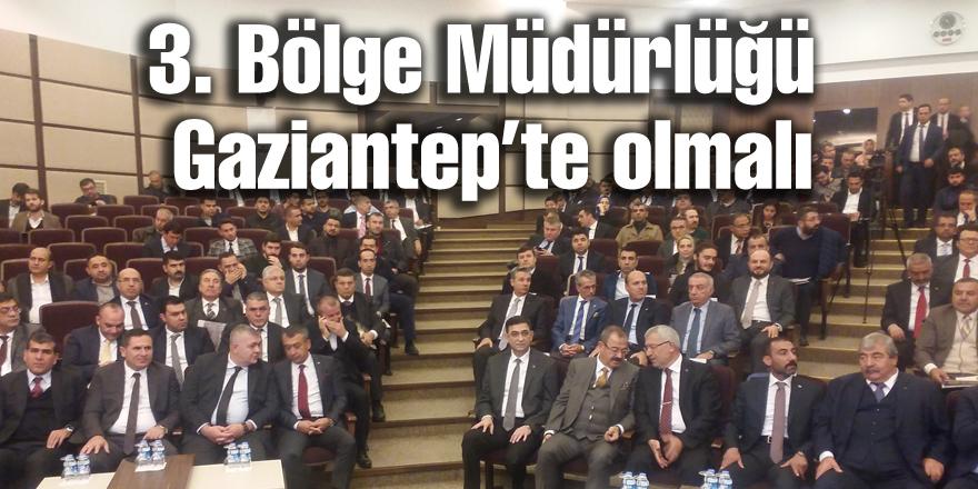 Yıldırım Gaziantep'te 3. Bölge Müdürlüğü istedi