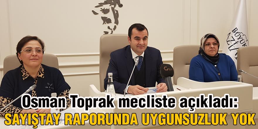 Osman Toprak mecliste açıkladı: