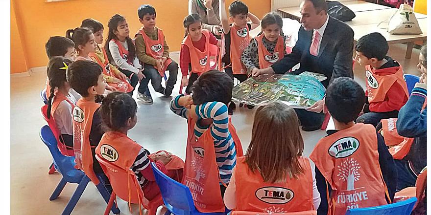 Öğrenciler TEMA eğitiminde