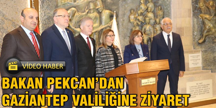 Bakan Pekcan'dan Gaziantep Valiliğine ziyaret