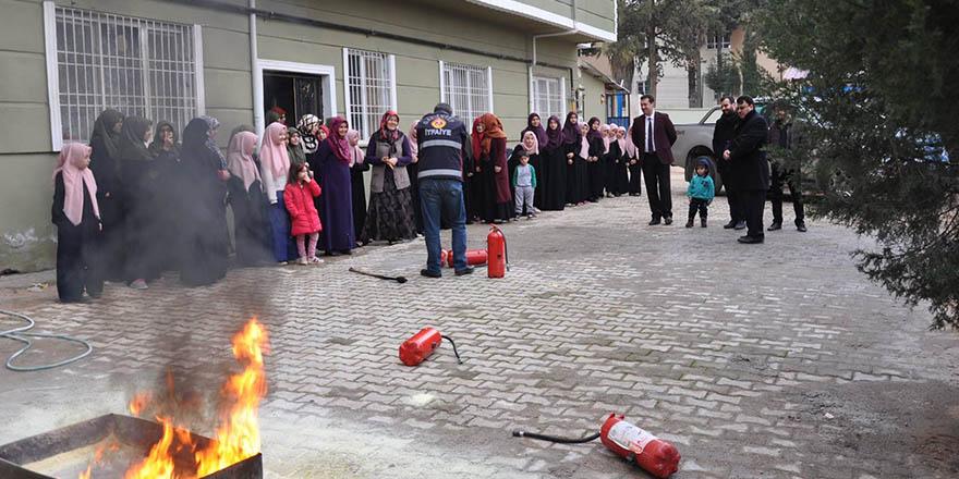 Kur'an kursunda yangın eğitimi