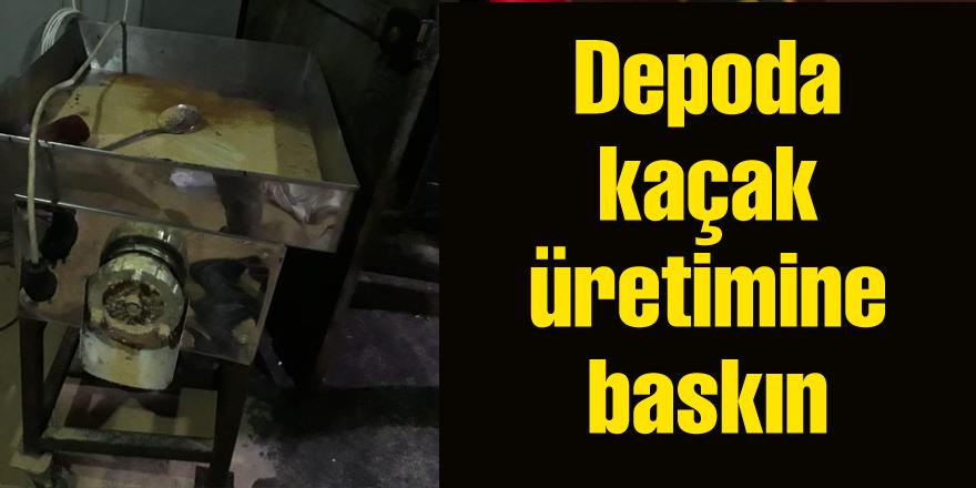 Kaçak nargile tütünü imalathanesine operasyon