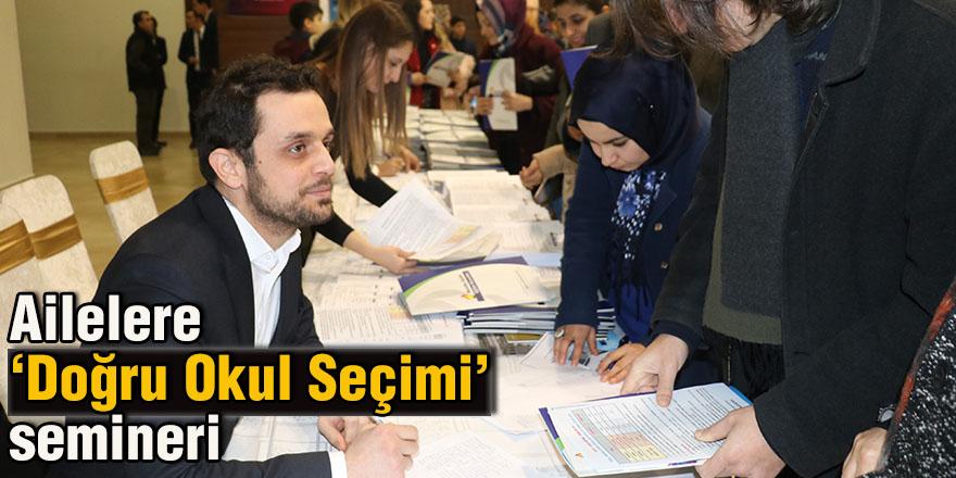 Ailelere 'Doğru Okul Seçimi' semineri
