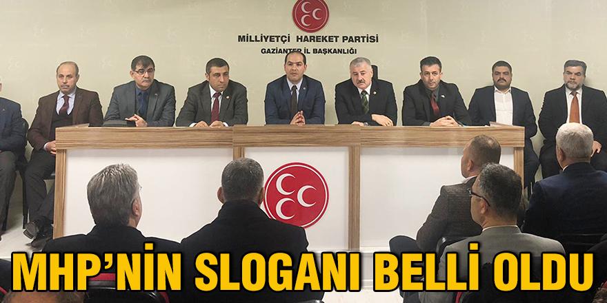 MHP'nin sloganı belli oldu