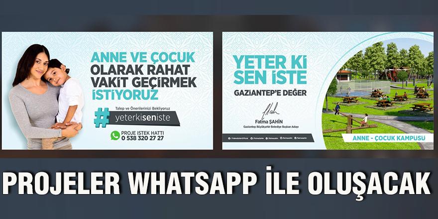 Projeler Whatsapp ile oluşacak