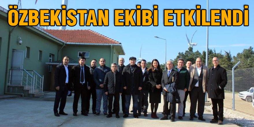 Özbekistan ekibi etkilendi