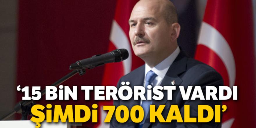 'Dağlarda 700 terörist kaldı'