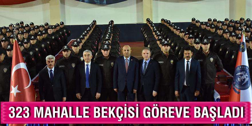 Gaziantep'te 323 mahalle bekçisi göreve başladı