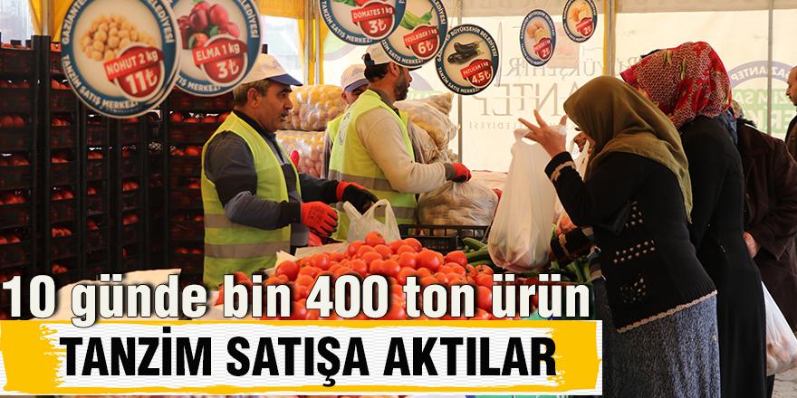 10 günde bin 400 ton ürün