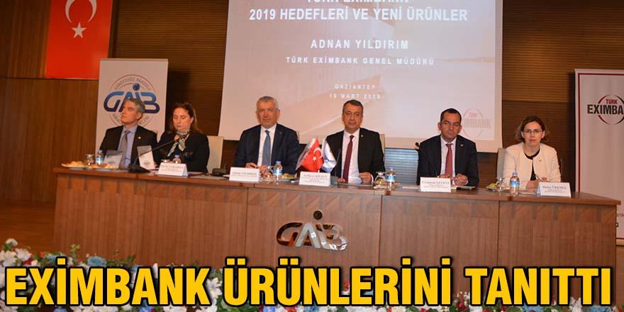 Eximbank ürünlerini tanıttı