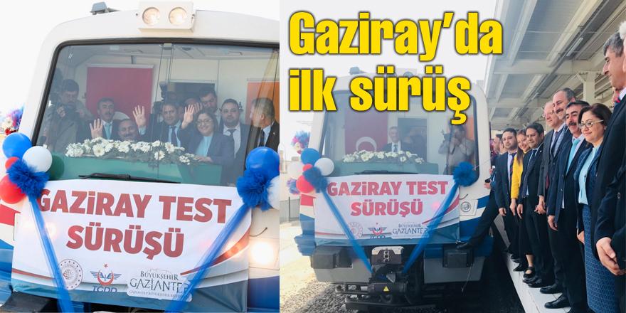 Gaziray'da ilk sürüş