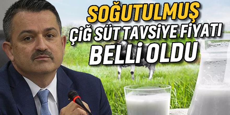 Soğutulmuş çiğ süt tavsiye fiyatı belli oldu